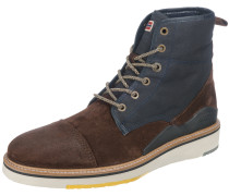 Stiefeletten blue denim / braun