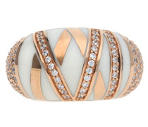 Fingerring Silber Rosegold Stripes
