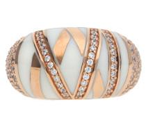 Fingerring Silber Rosegold Stripes
