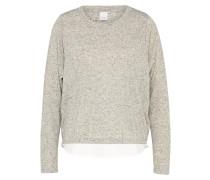 Pullover 'taddy' graumeliert / weiß