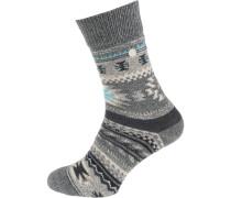 Socken 'Kelim' grau / weiß