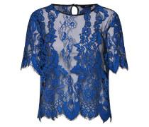 Bluse 'onlMILO SS Lace TOP Wvn' blau