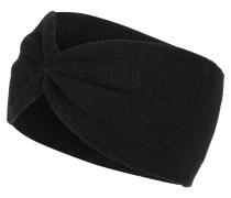 Stirnband mit Kaschmir schwarz