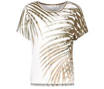 T-Shirt 1/2 Arm Shirt mit Farnprint