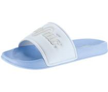 Pantoletten hellblau / weiß