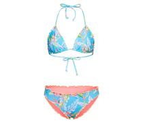 Bikini 'ivette' hellblau / pfirsich
