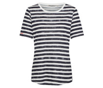 T-Shirt 'Ss' nachtblau / weiß