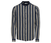Hemd dunkelblau / grau