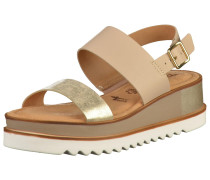 Sandalen gold / taupe