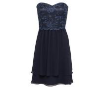 Bandeau Kleid dunkelblau