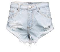 'ka2975' High Waist Denim Shorts