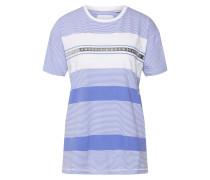 Shirt 'tape Stripe Portland' blau / weiß