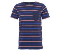 T-Shirt dunkelblau / orange