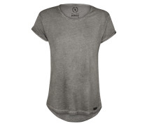 T-Shirt in Cold-Dyed-Optik grau