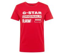 Shirt 'Graphic 8' rot / weiß