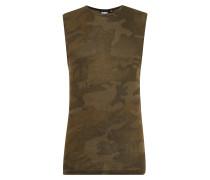 Tanktop im Camouflage-Design oliv
