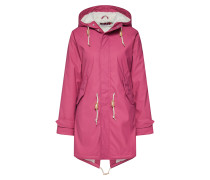 Regenjacke 'Travel Cozy Friese' dunkelpink