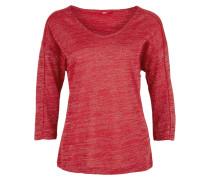 Shirt feuerrot / silber