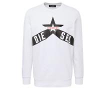 Sweatshirt 's-Gir-A2' rot / schwarz / weiß