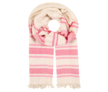 Schal rosa / beige