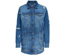 Lange Jeansjacke blue denim