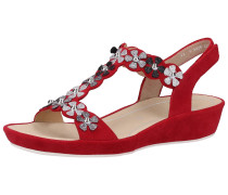 Sandalen rot / schwarz / silber