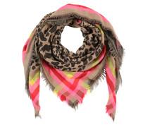 Tuch 'animal' camel / pink