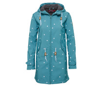 Outdoorjacke 'Island Friese Dots' petrol