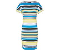 Kleid blau / gelb / schwarz / weiß