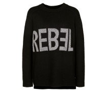 Strickpullover 'rebel' grau / schwarz
