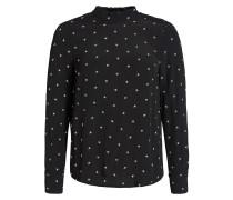 Blusenshirt 'Carlotta' schwarz / weiß