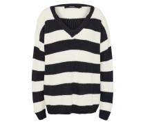 Pullover 'sibbo Stripe' schwarz / weiß