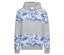 Sweatshirt 'Whisper' blau / graumeliert