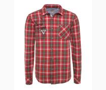 Hemd mischfarben / rot