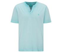 T-Shirt 'Henley' türkis