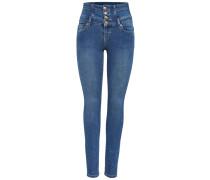 Skinny Fit Jeans Coral Corsage blue denim