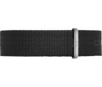 Uhrenarmband schwarz / silber