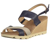 Sandalen camel / ultramarinblau