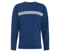 Shirt 'LS HWT Indigo T' blau / weiß