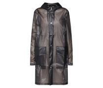Mantel 'Hooded Coat' schwarz