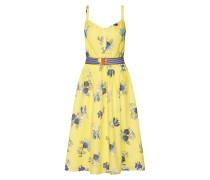 Kleid hellblau / gelb