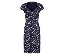 Kleid 'Gina' beige / dunkelblau