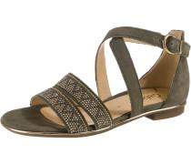 Sandale bronze / oliv / silber