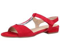 Sandalen rot / silber