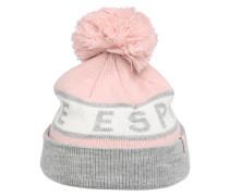 Mütze mit Glitzerfäden rosa