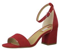 Sandalette rot / beige / silber
