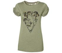 Castle Peak Print T-Shirt grün