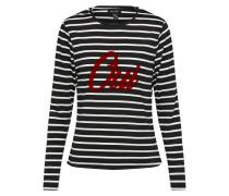 Sweatshirt mit Streifen schwarz / weiß