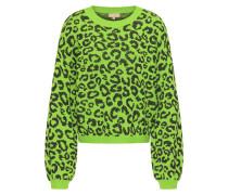 Pullover kiwi / schwarz