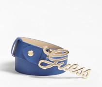 Gürtel 'Robyn' beige / blau / gold